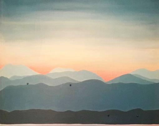 mountains mural