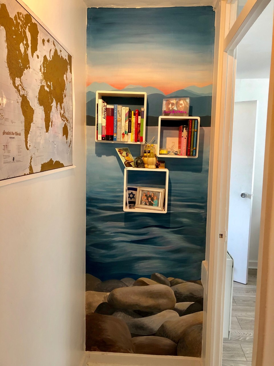 seascape mural hand painted